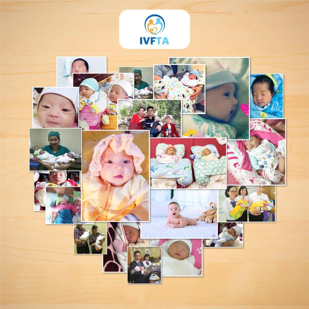 Các em bé kháu khỉnh được sinh ra từ phương pháp IVF tại Bệnh viện Đa Khoa Tâm Anh.