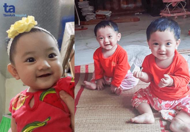 Hai bé Su Hào và Bắp Cải luôn mang lại tiếng cười rộn rã cho gia đình
