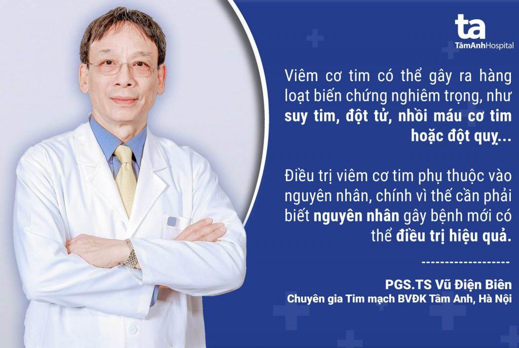 PGS.TS Vũ Điện Biên là một trong những bác sĩ - chuyên gia đầu ngành trong lĩnh vực tim mạch.