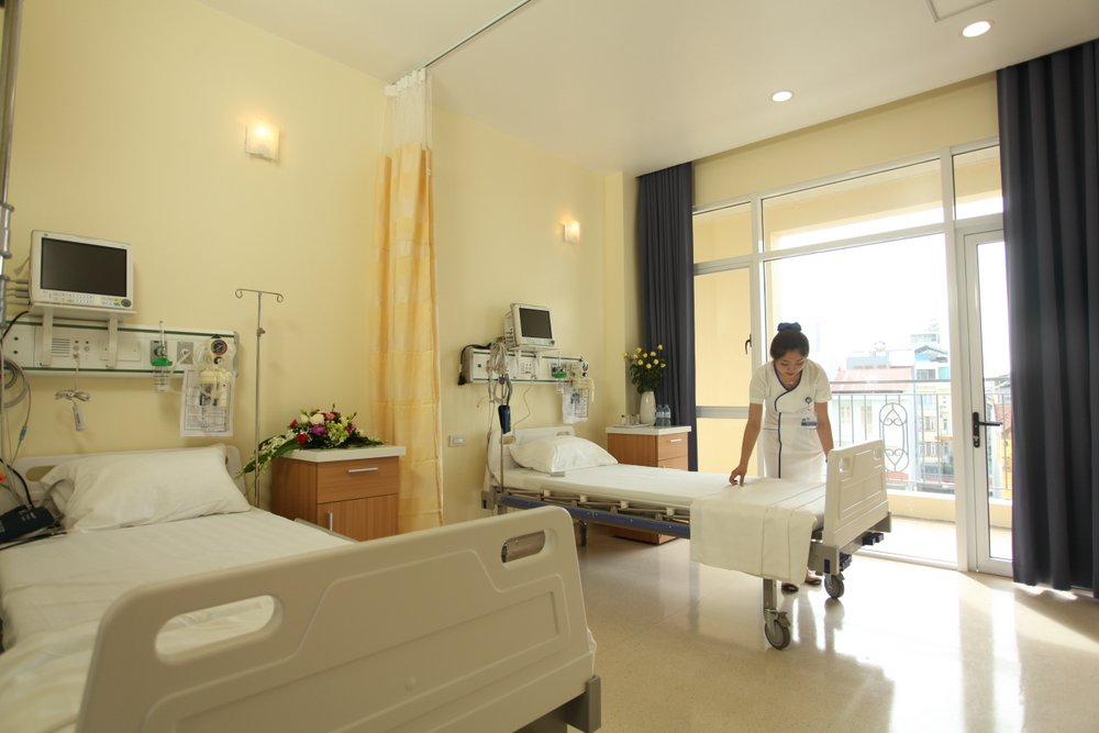 Hệ thống phòng điều trị nội trú tại BVĐK Tâm Anh đáp ứng tiêu chuẩn phòng bệnh quốc tế, đảm bảo quy trình chăm sóc sức khỏe an toàn, chuyên nghiệp.