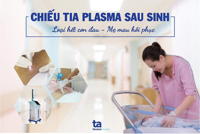 Chiếu tia plasma sau sinh