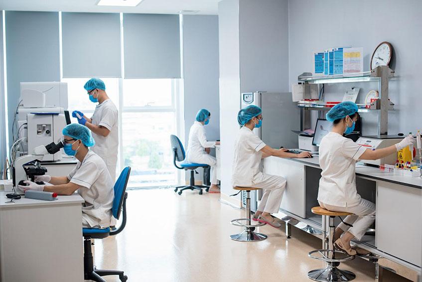 Cơ sở vật chất tại Trung tâm xét nghiệm